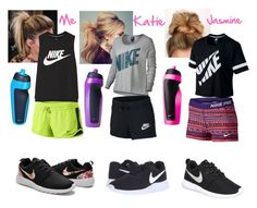 """Netball squad"" by baileejade ❤ liked on Polyvore featuring NIKE"
