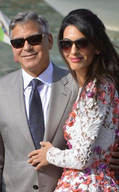 First Look at George Clooney and Amal Alamuddin As Husband and Wife! 251c7213d5e8