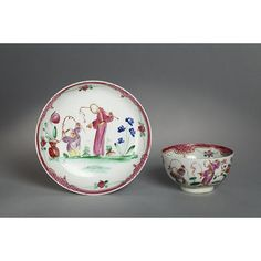 Teacup and saucer | Baddeley-Littler porcelain factory | V&A Search the Collections