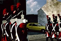 Harry Gruyaert BELGIUM. Village in the Province of Brabant. 1981. Commemoration of the Battle of Waterloo.