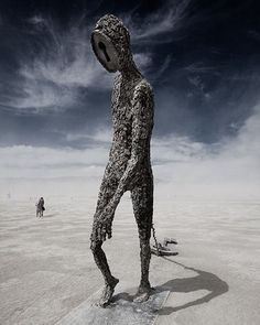 Amazing padlock man dragging a key #blackrockcity #burningman #festival