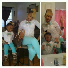 Mommy daughter swag. Too cute!!