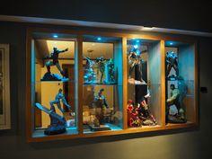 Tv Display, Display Shelves, Display Cabinets, Display Cases, Star Wars Bedroom, Geek Room, Otaku Room, 3d Home, Toy Rooms