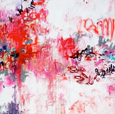Original Abstract Art by artist Amy Donaldson, Everlasting Compassion, 2012, Oil and Spray Paint on Canvas, 71 x 71 in.