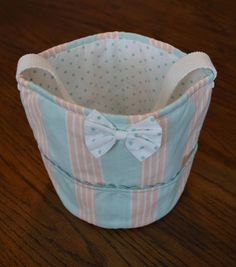 Sweet Little Cotton Bucket Tote Beach Bag