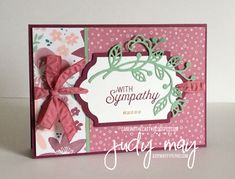 Stampin' Up! Blooms & Bliss DSP & Flourish Thinlits for CASE-ing the Catty - Judy May, Just Judy Designs