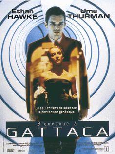 Bienvenue à Gattaca est un film de Andrew Niccol avec Ethan Hawke, Uma Thurman. Synopsis : Dans un monde parfait, Gattaca est un centre d'études et de recherches spatiales pour des jeunes gens au patrimoine génétique impeccable. Jérôme, cand