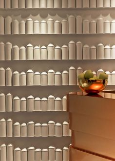 Feature wall inspiration - white spray cans