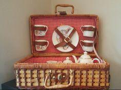 Beatrix Potter Tea Set Wicker Basket 25 pc Peter Rabbit and Friends by Reutter  #ReutterPorcelain