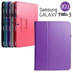 LEATHER MOVIE STAND CASE FOR SAMSUNG GALAXY TAB 3 10.1 P5200 P5210 P5220 PURPLE