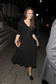 Simply stunning: Keira Knightley can't help but turn heads, as she did when she stepped out in London on Monday night