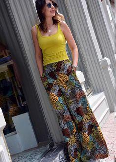 Rengarenk pijama pantolonlar ben bu yaz için birkaç tane diktim.. peki ya siz
