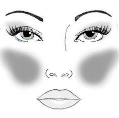 TheMakeupChair: Faceshape! hart omgekeerde driehoek hoge jukbeenderen