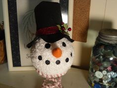 Winter Snowman on Rusty Bed Spring by humblehrtdesigns on Etsy, $18.00