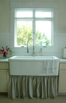 Our giant farmhouse sink was taken from a local hospital. Used to be a surgeon's sink! - Houzz