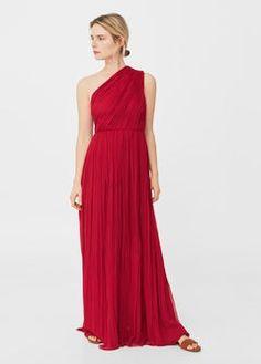Silk asymmetric gown