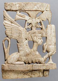 Female Sphinx Ivory Plaque Late Bronze