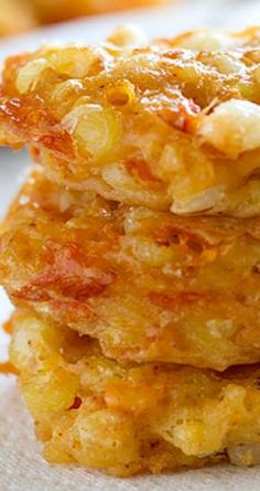 Cheddar Corn Fritters {Cookbook of the Month Recipe} _ These corn fritters are made from corn that is combined with cheddar cheese and then fried into little cakes that are melt-in-your-mouth delicious.