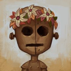 throwanything: Little WX-78 to warm up this morning and use as a new profile pic.Getting really into Don't Starve Together lately.