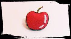 Manzana fieltro y cremallera