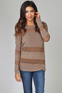Brown-Mesh-Striped-Sweater-Top #pinkblush #outfitinspiration #winterwardrobe