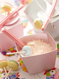 yummy sherbet-    INGREDIENTS  15 tsp your favourite Aeroplane Original Jelly Flavour  5 tsp baking soda  10 tsp icing sugar  2 1/2 tsp citric acid*  METHOD  Place all ingredients into a small bowl and mix well.  Serve with lollipops, musk sticks or just dipping sticks.
