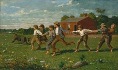 Winslow Homer (American, 1836–1910). Snap the Whip,  1872. The Metropolitan Museum of Art, New York. Gift of Christian A. Zabriskie, 1950 (50.41) #kids #metkids