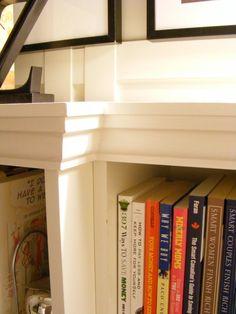 Bookcase Tutorial - add trim to standard Ikea bookcases.
