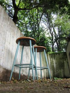Set Of Two Vintage Industrial Chemistry Laboratory Stools