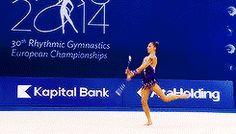 Melitina Staniouta's clubs routine at the 2014 European Championships