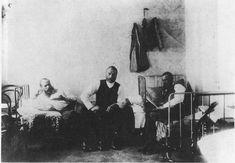 Dostoyevsky in prison. Omsk, Siberia, 1853.