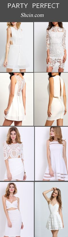 Little White Dresses for bridal showers and bachelorette parties. Find the perfect white dress for any occasion at Shein.com. With daily updates, Shein.com has all the pieces for your party perfect look!