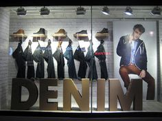 Debenhams Window Display, London ( merchandising )