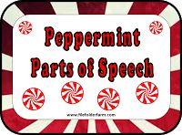 File Folder Farm: Peppermint Parts of Speech Grammar Activities, Grammar And Vocabulary, Teaching Language Arts, Speech And Language, Word Study, Word Work, Third Grade Centers, Parts Of Speech Practice, Educational Assistant