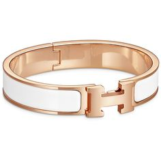 Hermès Clic H Bracelet (795 CAD) ❤ liked on Polyvore featuring jewelry, bracelets, hermes, jade bangle, pandora jewelry, pandora bracelet, bracelet jewelry and blue jewelry