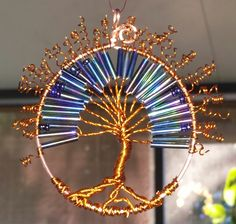 copper wire Tree of Life made by Robin Allen