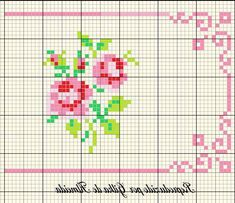 simple roses with a nice border frame Cross Stitch Boarders, Mini Cross Stitch, Cross Stitch Cards, Beaded Cross Stitch, Cross Stitch Rose, Cross Stitch Flowers, Cross Stitching, Cross Stitch Embroidery, Modern Cross Stitch Patterns