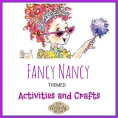 Activity Mom shares Fancy Nancy crafts and activities you might also enjoy with your littles. Paper dolls, family tree, manicure, tea party, and fancy meals all seem worth celebrating to me! 6th Birthday Parties, Birthday Fun, Birthday Ideas, Fourth Birthday, Birthday Presents, Kids Learning Activities, Party Activities, Preschool Lessons, Diy For Kids