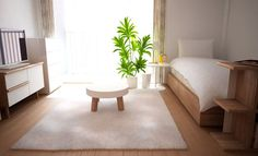 Interior Living Room Design Trends for 2019 - Interior Design Small Room Decor, Small Room Design, Studio Living, Studio Room, One Room Apartment, Apartment Interior, Simple Modern Interior, Japan Room, Small Apartment Organization