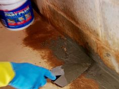 hydraulic cement seals gaps at wall and floor