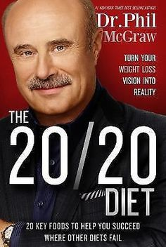 THE 20/20 DIET by DR Phil McGraw (2015) NEW weight loss book 20 20 dieting HB/DJ