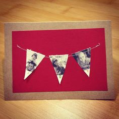 la petite lulu: DIY fabric photo bunting Christmas cards