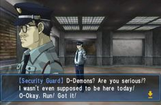 I love modern era localizations. This Kevin Smith inspired moment is in Shin Megami Tensei: Devil Summoner: Soul Hackers for 3DS. #KevinSmith #ShinMegamiTensei #Nintendo3DS #3DS #videogames