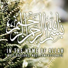DesertRose.:.beautiful calligraphy art.:. Bismillah Arrahman Arraheem.:.