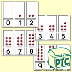 Number Shapes 0 to 10 - Maths Resources - Foundation Phase - Primary Treasure Chest Teaching Activities, Math Resources, Teaching Ideas, Numicon, Crafts For Kids, Arts And Crafts, Sound Art, Shaped Cards, Matching Cards