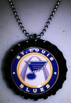 St. Louis Blues Bottle Cap Necklace