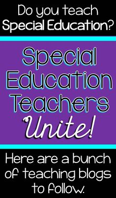 Scaffolded Math and Science: Special Education Teacher Blogs to Follow