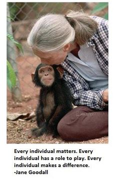 Jane Goodall and friend