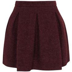 KARL LAGERFELD Hadley Burgundy Mohair Blend Skirt (265 SAR) ❤ liked on Polyvore featuring skirts, bottoms, saias, faldas, zipper skirt, karl lagerfeld, box pleat skirt, brown skirt and pocket skirt
