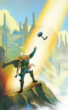Thor by Mike Del Mundo * Marvel Comics, Bd Comics, Marvel Art, Marvel Heroes, Thor Marvel, Thor 2, Comic Book Artists, Comic Artist, Comic Books Art